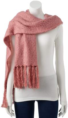 Lauren Conrad Women's Brushed Knit Boucle Oblong Scarf
