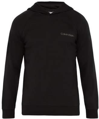 Calvin Klein Underwear Logo Cotton Blend Hooded Sweatshirt - Mens - Black