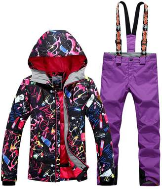 7e84f255be GS SNOWING Women s Waterproof Windproof Snowboard Suit Ski Jacket and Pants