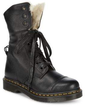 Dr. Martens Faux Fur-Lined Leather Booties