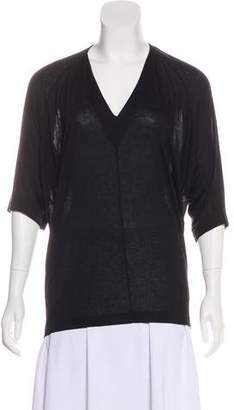 Helmut Lang Jersey V-Neck Top