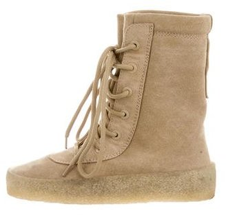 Yeezy Season 2 Crepe Ankle Boots $295 thestylecure.com