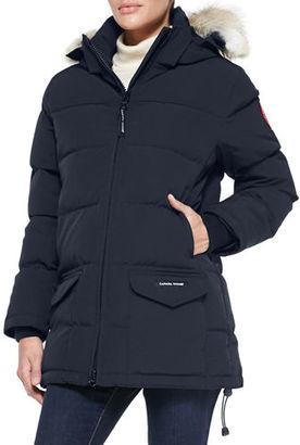 Canada Goose Solaris Fur-Hood Parka Coat $850 thestylecure.com