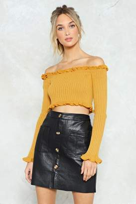 Nasty Gal Knit for the Faint Hearted Crop Top