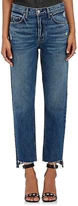 GRLFRND Women's Helena Straight Crop Jeans - Dk. Blue