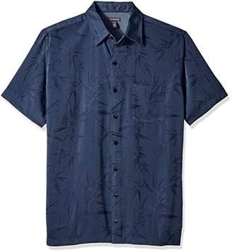 Van Heusen Men's Size Big Jacquard Short Sleeve Shirt