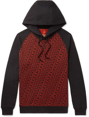 Missoni Logo-Print Loopback Cotton-Jersey Hoodie - Black