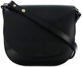 Closed saddle shoulder bag