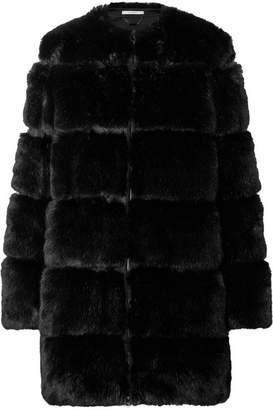 Givenchy Paneled Faux Fur Coat - Black
