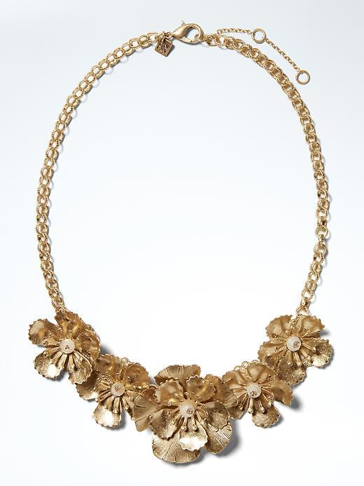 Golden Garden Focal Necklace