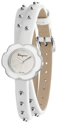 Salvatore Ferragamo Fiore Leather Strap Watch, 24mm