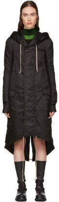 Rick Owens Black Fishtail Coat