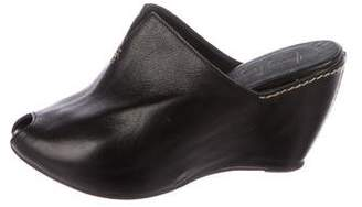 Henry Beguelin Leather Pee-Toe Wedges