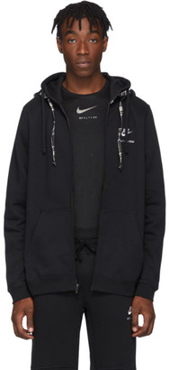 Alyx Black and White Nike Edition Double Hood Zip Hoodie