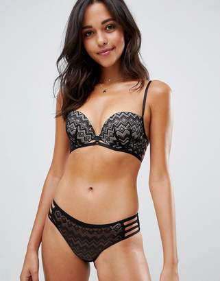 New Look Geo Lace Strapping Brazilian Brief