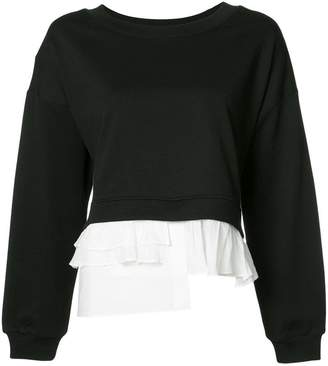 Moschino ruffled detail sweatshirt