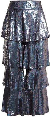 Osman Felix tiered sequin-embellished trousers