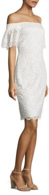 Laundry by Shelli Segal Off-the-Shoulder Lace Dress $195 thestylecure.com