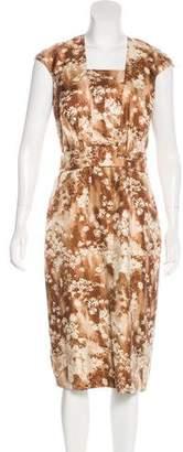 Barneys New York Barney's New York Silk Floral Print Dress