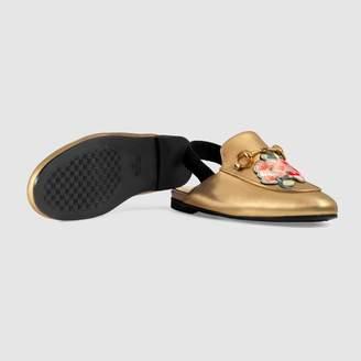 Gucci Children's Princetown slipper with appliqués