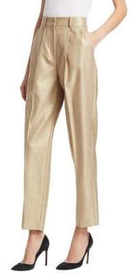 Emporio Armani High-Rise Cropped Pants with Pleats