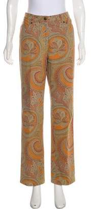 Etro Paisley Print High-Rise Wide-Leg Jeans