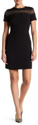Julia Jordan Mesh Combo Shift Dress\n $168 thestylecure.com