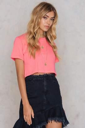 Na Kd Basic Neon Cropped Tee Pink