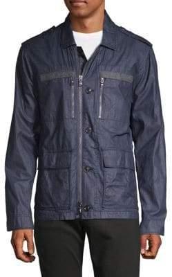 John Varvatos Zip-Cuff Cotton Field Jacket