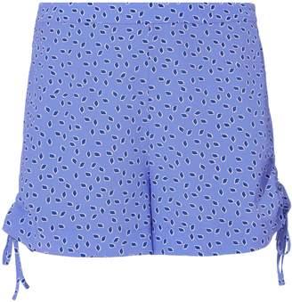 Intermix Dinah Blue Dot Silk Shorts
