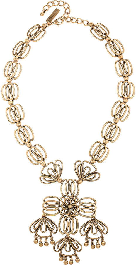 Oscar de la Renta 24-karat gold-plated necklace