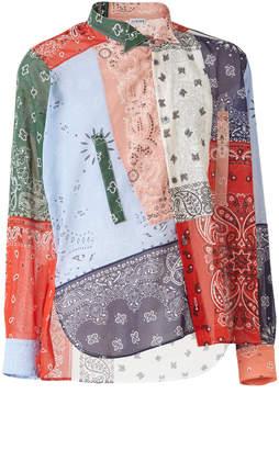 Loewe Asymmetric Bandana Long-Sleeve Shirt