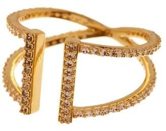 Nadri Pave CZ Parallel Split Shank Ring - Size 9