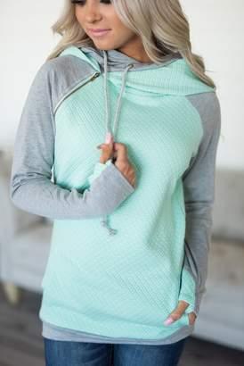 Ampersand Avenue DoubleHood Sweatshirt - Quilted Mint