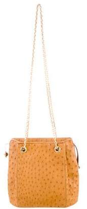 Judith Leiber Ostrich Shoulder Bag