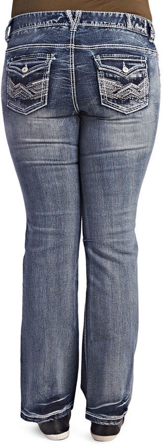 Wet Seal Dark Wash Boot Cut Jean