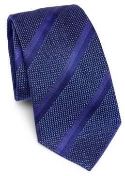 Giorgio Armani Purple Wide Stripe Tie