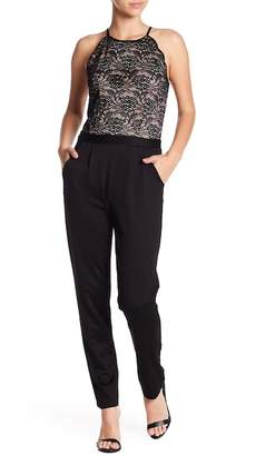 Amy Byer Lace to Ponte Jumpsuit