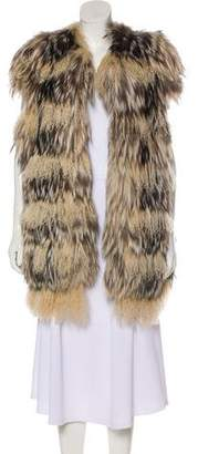 Fendi Silver Fox Vest w/ Tags