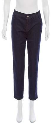 Les Copains Mid-Rise Straight-Leg Jeans