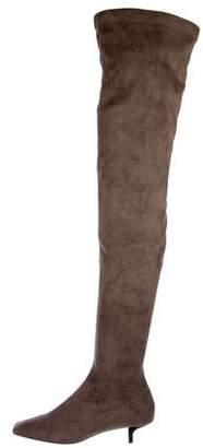 Stella McCartney Vegan Suede Thigh-High Boots
