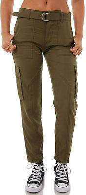 Volcom New Women's Womens Vol Plus Pant Cotton Fitted Elastane Green