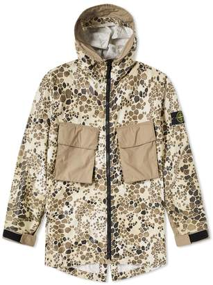 Stone Island Alligator Camo Light Cotton Nylon Rep Hooded 4 Pocket Jacket