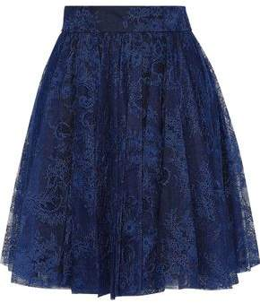 Philosophy di Lorenzo Serafini Gathered Chantilly Lace Mini Skirt