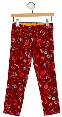 Oilily Girls' Floral Corduroy Pants