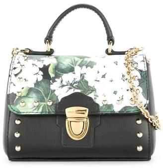 Dolce & Gabbana white geranium printed shoulder bag