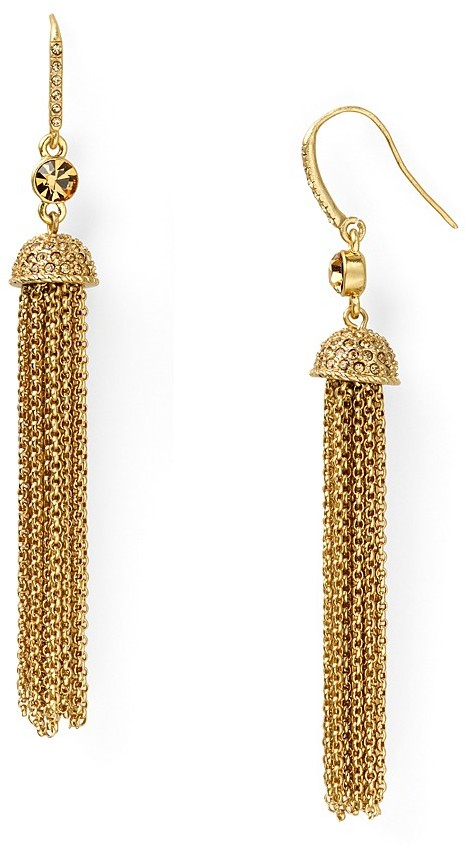 Carolee Lux Glamorous Jewels Tassel Earrings