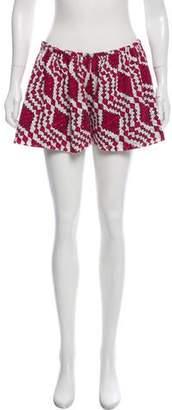 Thakoon Abstract Eyelet Mini Shorts