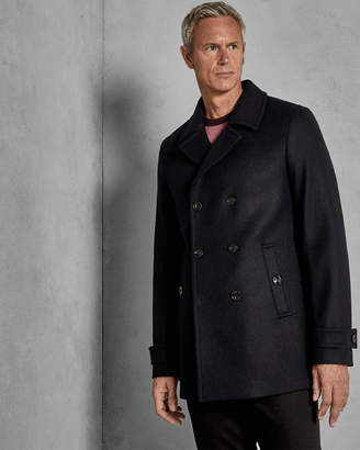 72d31ee8f97a Ted Baker GRILLTT Double breasted wool pea coat