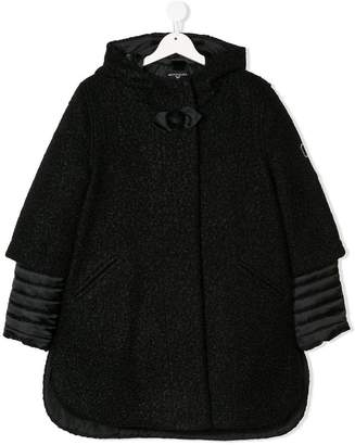 MonnaLisa TEEN hooded quilted detail coat